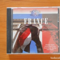 CDs de Música: CD THE WORLD OF MUSIC - FRANCE (DB). Lote 177564623
