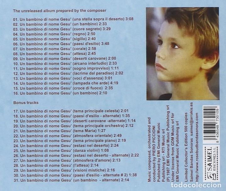 CDs de Música: UN BAMBINO DI NOME GESU´ / Piero Piccioni CD BSO - Foto 2 - 177620160