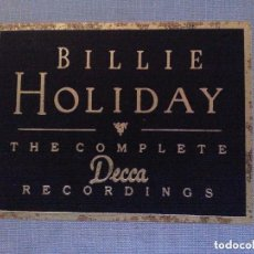 CDs de Música: BILLIE HOLIDAY, THE COMPLETE RECORDINGS - DOBLE CD Y LIBRETO ILUSTRADO, CON ESTUCHE. Lote 177620438