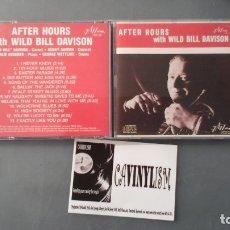 CDs de Música: WILD BILL DAVISON ?– AFTER HOURS WITH WILD BILL DAVISON CD JAZZOLOGY ?– JCD-22 . Lote 177631013