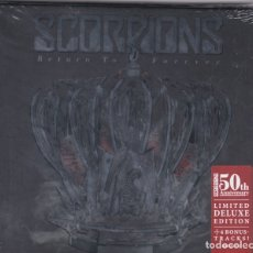 CDs de Música: SCORPIONS - RETURN TO FOREVER - CD BOOK PRECINTADO. Lote 177640559