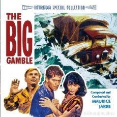 CDs de Música: THE BIG GAMBLE / MAURICE JARRE + TREASURE OF THE GOLDEN CONDOR / SOL KAPLAN CD BSO - INTRADA. Lote 177687888