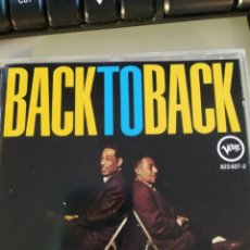 CDs de Música: DUKE ELLINGTON & JOHNNY HODGES – BACK TO BACK (DUKE ELLINGTON AND JOHNNY HODGES PLAY THE BLUES). Lote 177693629
