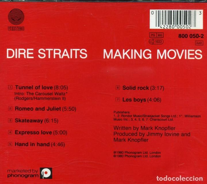 CDs de Música: DIRE STRAITS - MARKING MOVIES - Foto 2 - 177706735