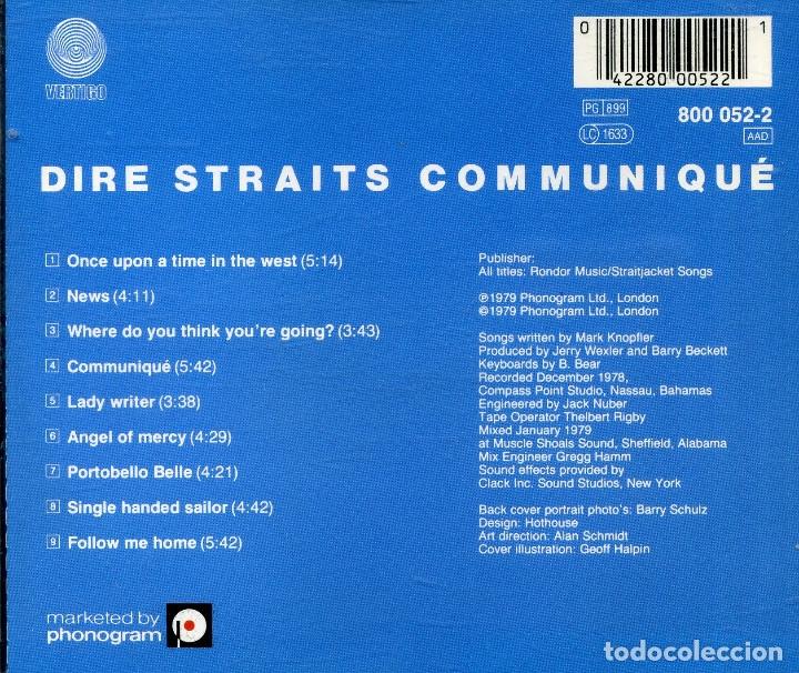 CDs de Música: DIRE STRAITS - COMMUNIQUÉ - Foto 2 - 177706808