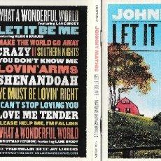 CDs de Música: JOHNNY MATHIS - LET IT BE ME: MATHIS IN NASHVILLE. Lote 177752907
