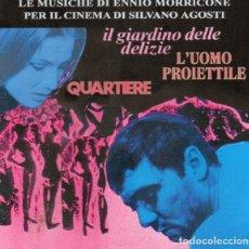 CDs de Música: IL GIARDINO DELLE DELIZIE + QUARTIERE + L´UOMO PROIETTILE / ENNIO MORRICONE CD BSO. Lote 177755359