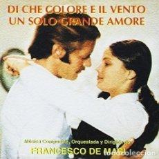 CDs de Música: DI CHE COLORE E´ IL VENTO + UN SOLO GRANDE AMORE / FRANCESCO DE MASI CD BSO. Lote 177755515