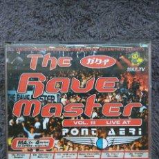CDs de Música: THE RAVE MASTER VOL.III LIVE AT PONT AERI. Lote 177766107