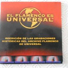 CDs de Música: EL FLAMENCO ES UNIVERSAL. REEDICION DE LAS GRABACIONES HISTORICAS DEL ARCHIVO FLAMENCO DE UNIVERSAL.. Lote 177780459