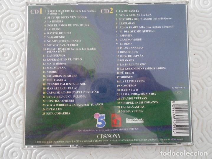 CDs de Música: LOS PANCHOS. SABOR A TI. 50 AÑOS DE MUSICA. DOBLE COMPACTO CON 50 CANCIONES. CBS/SONY. - Foto 2 - 177816044