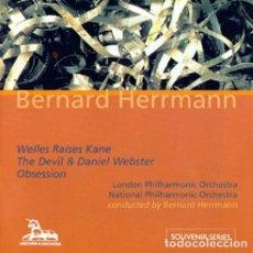 CDs de Música: WELLES RAISES KANE + THE DEVIL & DANIEL WEBSTER + OBSESSION / BERNARD HERRMANN CD BSO. Lote 177842195