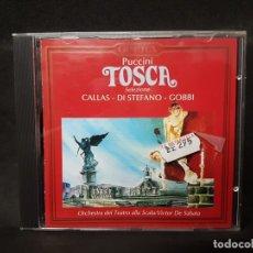 CDs de Música: OPERA CLÁSICA PUCCINI TOSCA SELEZIONE CALLAS DI STEFANO GOBBI VICTOR DE SABATA 1 CD. Lote 177863273