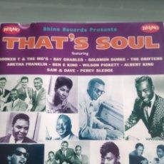 CDs de Música: VARIOUS – THAT'S SOUL (20 ATLANTIC SOUL CLASSICS). Lote 177884975