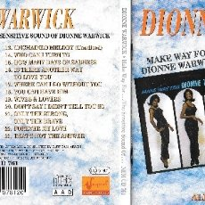 CDs de Música: DIONNE WARWICK - MAKE WAY FOR DIONNE WARWICK / THE SENSITIVE SOUND OF DIONNE WARWICK. Lote 177963440