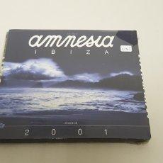 CDs de Música: JJ10- AMNESIA IBIZA 2001 2CD NUEVO PRECINTADO LIQUIDACION!!!. Lote 178027888