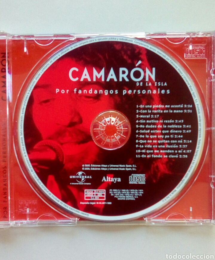 CDs de Música: Camaron de la isla - Por fandangos personales, Ediciones Altaya, 2000. EU. - Foto 4 - 178083923