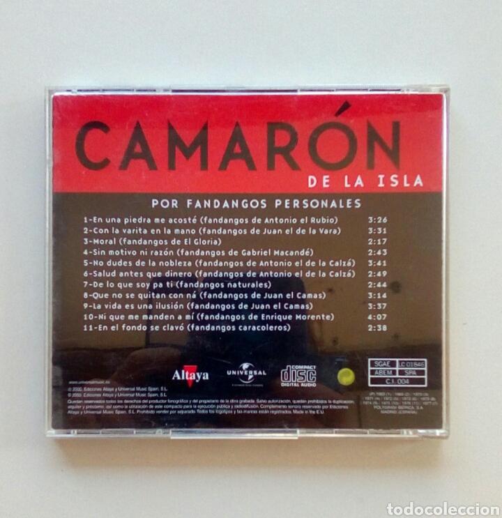 CDs de Música: Camaron de la isla - Por fandangos personales, Ediciones Altaya, 2000. EU. - Foto 5 - 178083923