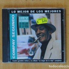 CDs de Música: COMPAY SEGUNDO - LO MEJOR DE LA VIDA - CD. Lote 178105489