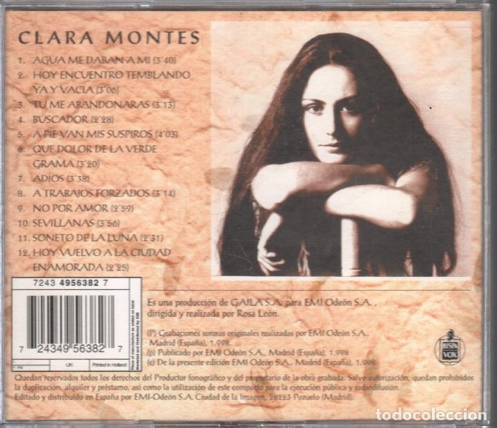 CDs de Música: CLARA MONTES CANTA A ANTONIO GALA / CD DE 1998 RF-3103 - Foto 2 - 178194957