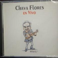 CDs de Música: CHAVA FLORES (SALVADOR FLORES RIVERA, MÉXICO) EN VIVO. GRABADO EN 1973. NUEVO, CON PRECINTO ORIGINAL. Lote 178296645