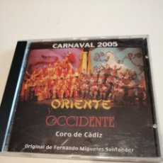 CDs de Música: G-25ANIM CD MUSICA CARNAVAL DE CADIZ CORO 2005 ORIENTE OCCIDENTE. Lote 178306593