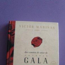 CDs de Música: VICTOR MARIÑAS-CANTA DIEZ SONETOS DE AMOR DE ANTONIO GALA . AÑO 1997. EDICION CD + LIBRO 93 PAGINAS. Lote 178310451