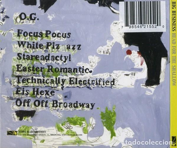 CDs de Música: BIG BUSINESS - HEAD FOR THE SHALLOW - DIGIPAK - Foto 2 - 178349586