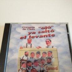 CDs de Música: G-25ANIM CD MUSICA CARNAVAL DE CADIZ CHIRIGOTA OJU YA SALTO EL LEVANTE . Lote 178378152