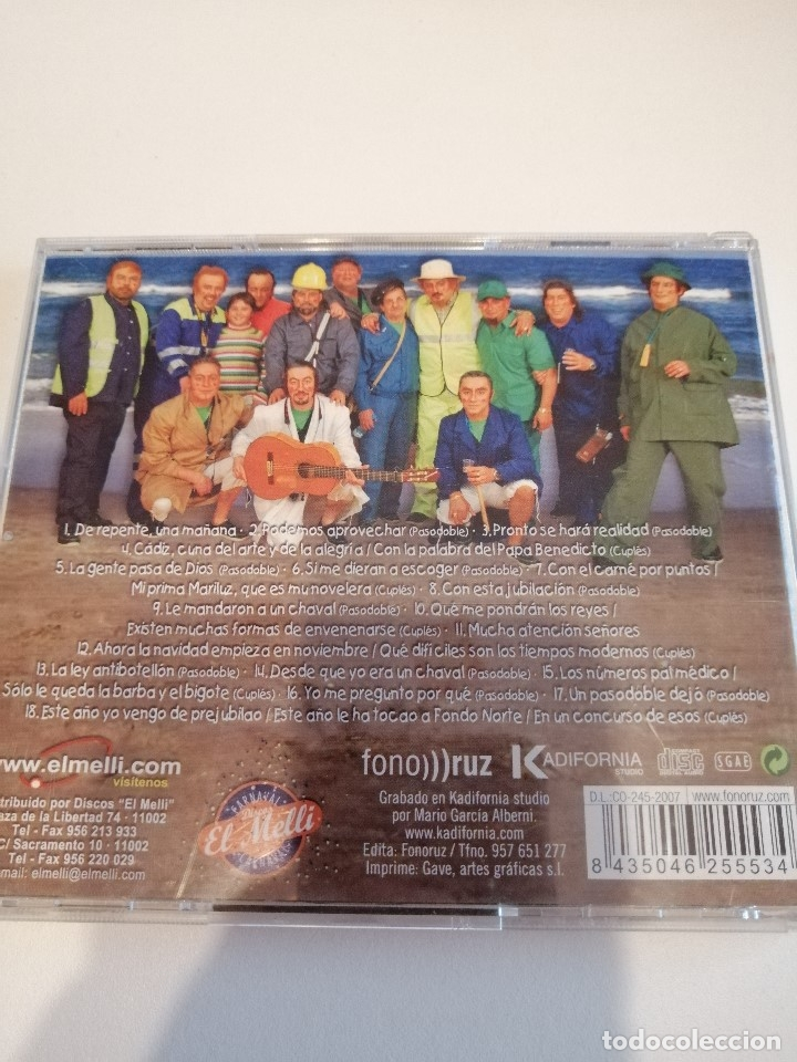 CDs de Música: G-25ANIM CD MUSICA CARNAVAL DE CADIZ CHIRIGOTA LOS PREJUBILADOS - Foto 2 - 178378572