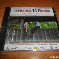 CDs de Música: UN FRANCO 14 PESETAS BANDA SONORA MARIO DE BENITO CD ALBUM PRECINTADO 2006 CONTIENE 26 TEMAS. Lote 178380902