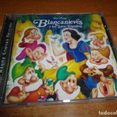 CDs de Música: BLANCANIEVES Y LOS SIETE ENANITOS BANDA SONORA EN ESPAÑOL WALT DISNEY CD 2001 ESPAÑA REMASTERIZADO. Lote 178381702