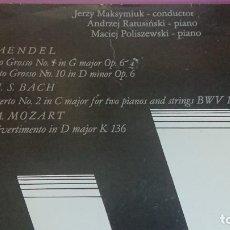CDs de Música: G.F. HAENDEL, J.S. BACH, W.A. MOZART, ORQGUESTA DE MUSICA DE CAMARA DE POLONIA. Lote 178382351