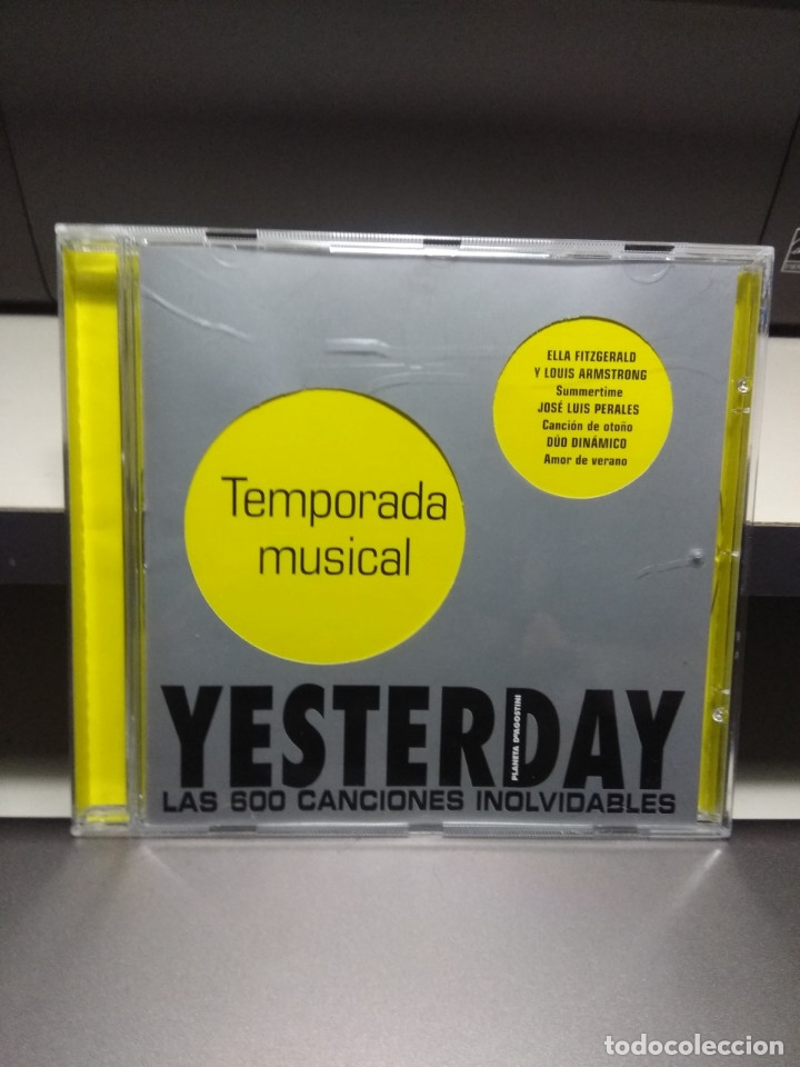 CD YESTERDAY : TEMPORADA MUSICAL ( DUO DINAMICO PERCY FAITH BLUE CHER MIGUEL RIOS LEONARDO FAVIO ETC (Música - CD's Pop)