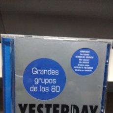 CDs de Música: CD YESTERDAY : GRANDES GRUPOS DE LOS 80 ( HEROES DEL SILENCIO ALARMA COMPLICES BARON ROJO ETC . Lote 178568277
