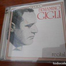 CDs de Música: 2 CD TITO GOBBI-RECITAL Y CD BENIAMINO GIGLI. Lote 178569410