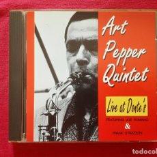 CDs de Música: ART PEPPER - LIVE AT DONTE'S - JOE ROMANO FRANK STRAZZERI. Lote 178589717
