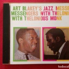 CDs de Música: ART BLAKEY JAZZ MESSENGERS WITH THELONIOUS MONK - IDEM - BLAKEY'S. Lote 178593108