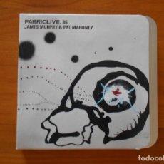 CDs de Música: CD FABRICLIVE.36 - JAMES MURPHY & PAT MAHONEY (5H). Lote 178652047