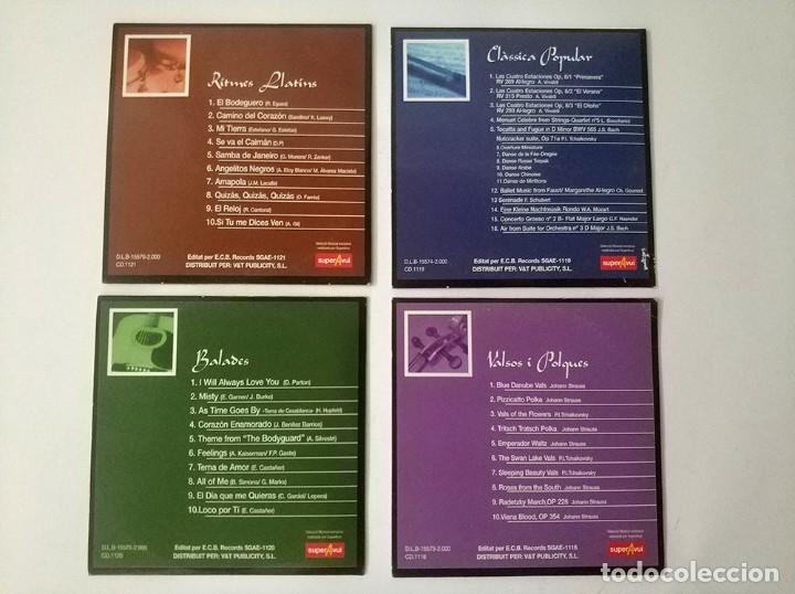 CDs de Música: Lote de 4 CD Musica Sellecio exclusiva super avui balades, valsos i polques, Ritmes llatins, clasica - Foto 2 - 178673098