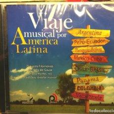 CDs de Música: VIAJE MUSICAL POR AMERICA LATINA. CANCIONES DE VARIOS PAÍSES. NUEVO, 2007. Lote 178685350