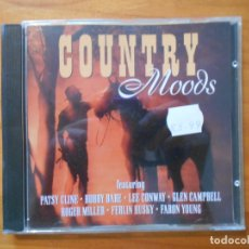 CDs de Música: CD COUNTRY MOODS - PATSY CLINE, BOBBY BARE, LEE CONWAY, GLEN CAMPBELL, ROGER MILLER... (5Q). Lote 178721087