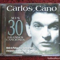 CDs de Música: CARLOS CANO (MIS 30 GRANDES CANCIONES) 2 CD'S 2001. Lote 178730270