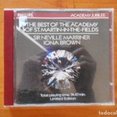 CDs de Música: CD THE BEST OF THE ACADEMY OF ST. MARTIN-IN-THE-FIELDS - SIR NEVILLE MARRINER - IONA BROWN (6D). Lote 178759735