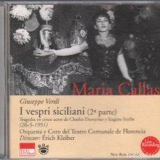 CDs de Música: MARIA CALLAS - GIUSEPPE VERDI ( I VESPRI SICILIANI ) 2ª PARTE - CD DE 2001 RF-3127 , PERFECTO ESTADO. Lote 178764951