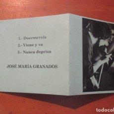 CDs de Música: JOSÉ MARÍA GRANADOS MAMÁ DEMO MAQUETA ENERO 98 DUERMEVELA +2 . Lote 178823876