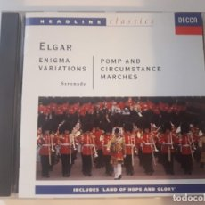 CDs de Música: CD ELGAR ENIGMA VARIATIONS - POMP AND CIRCUMSTANCE MARCHES. Lote 178836671
