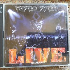CDs de Música: TWISTED SISTER , LIVE AT HAMMERSMITH , 2XCD GERMANY 1998 ESTADO IMPECABLE . Lote 178868565