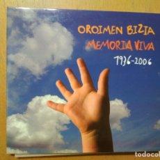 CDs de Música: MEMORIA VIVA / OROIMEN BIZIA 1930-200 CD KEPA JUNKERA, ATXAGA, BLAS DE OTERO LIBRETO. Lote 178901726