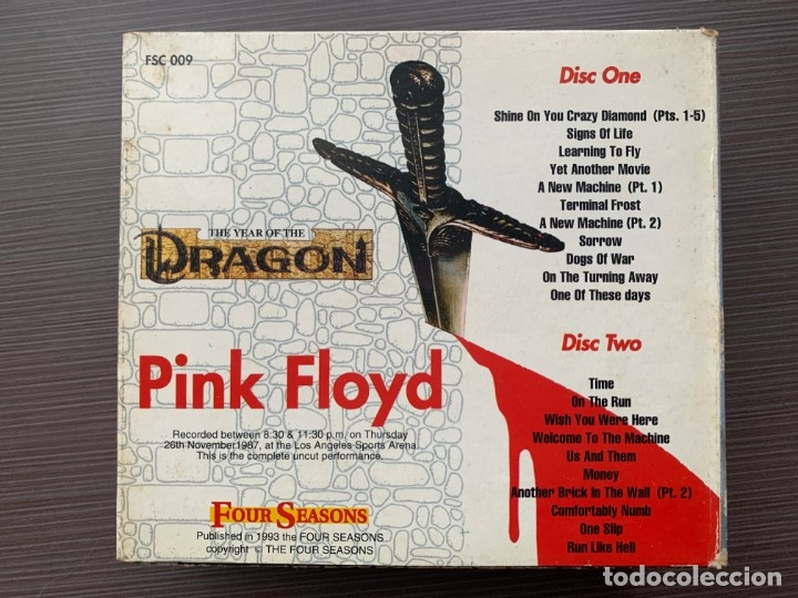 CDs de Música: Pink Floyd - The Year of the Dragon - (2 Cds Deluxe Edition) ¡MUY RARO! - Foto 5 - 178913241